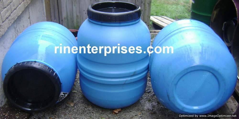 blue, 2 piece rain barrel